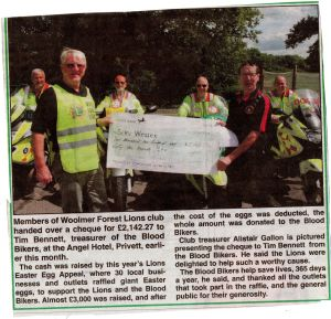 blood bikers cheque 388
